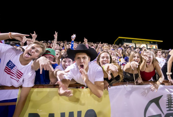 Horizon fans during the game against the Notre Dame Prep Saints at Horizon High School on Friday, October 5, 2018 in Scottsdale, Arizona. #azhsfb