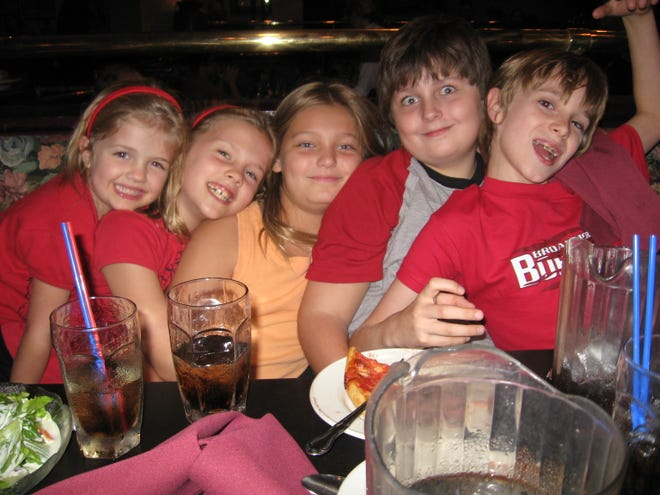 Five kids walk into a restaurant...Sawyer at 8 was like living with Jay Leno.