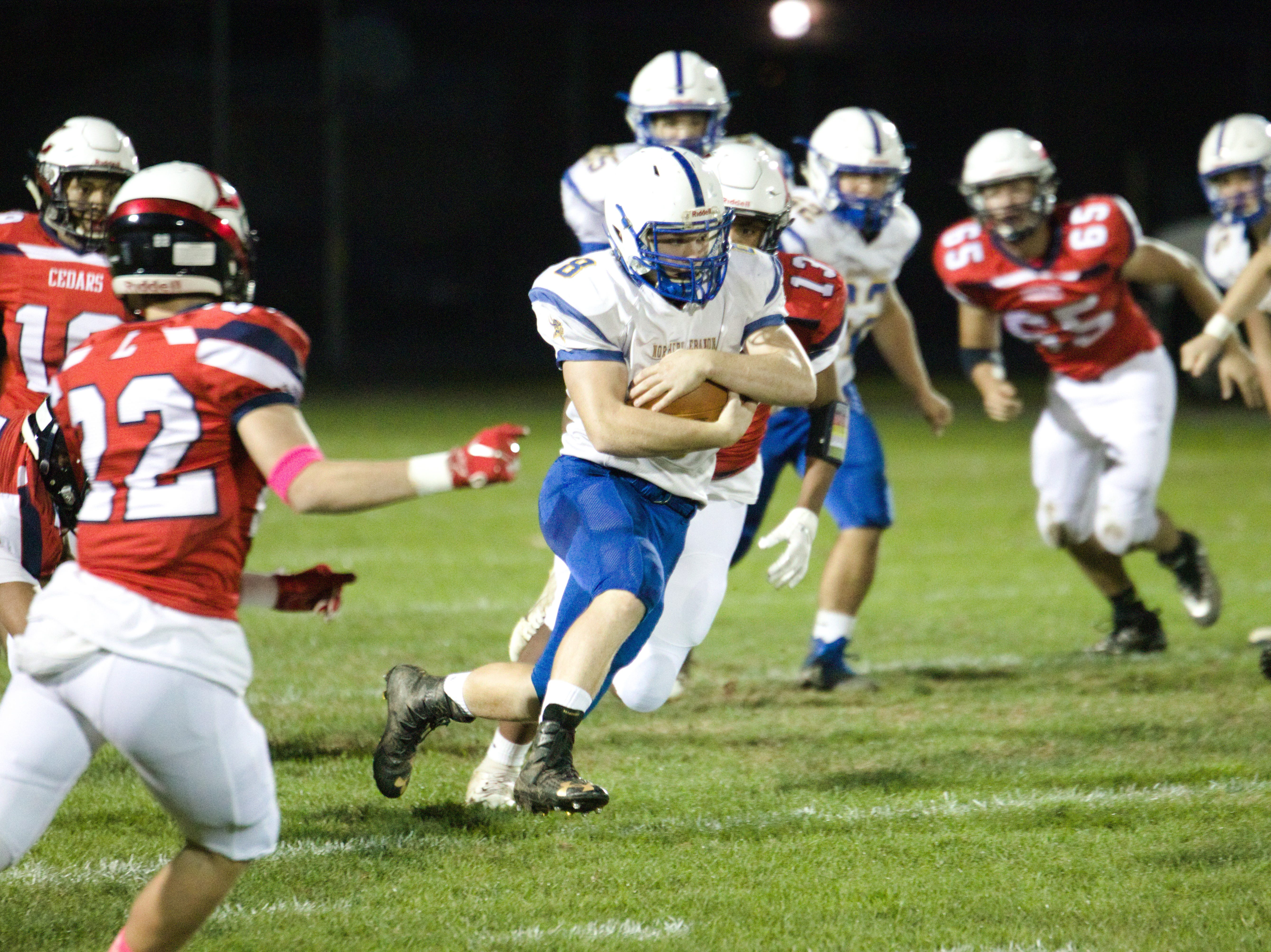 Northern Lebanon's Ethan Herb finds some room to run.