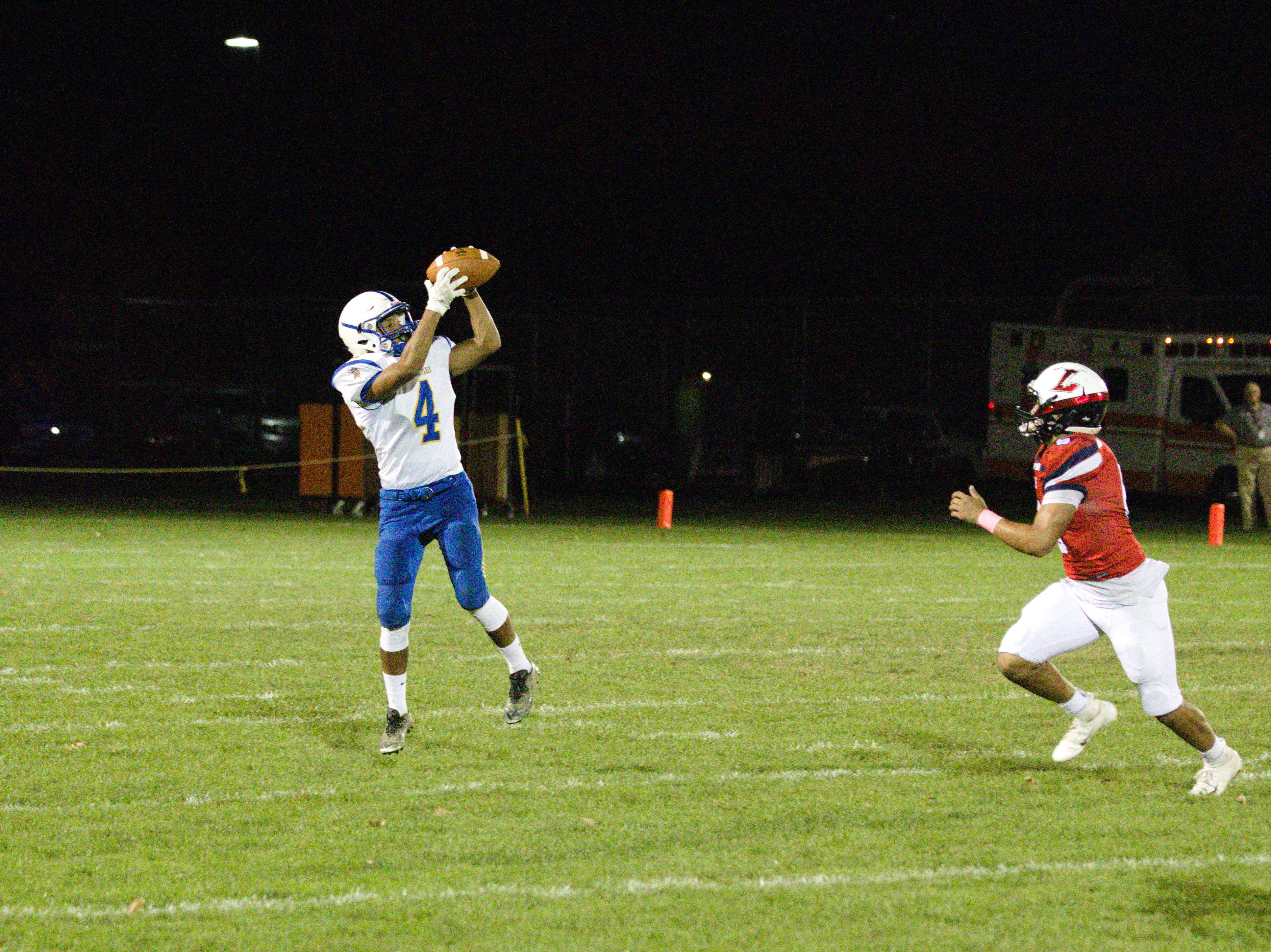 Northern Lebanon's Spencer Linton gets behind the Lebanon defense for a 42-yard reception in the first half.