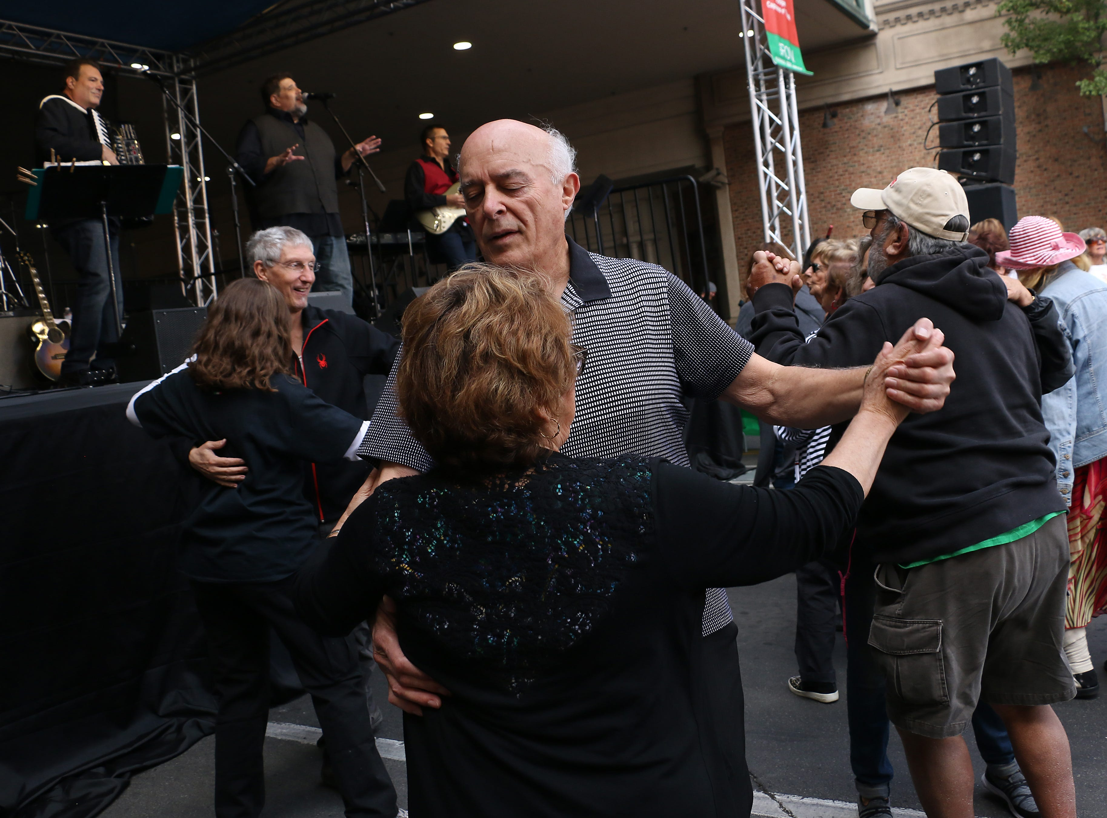 Couples dance during the Eldorado Great Italian Festival in downtown Reno on Oct. 6, 2018.