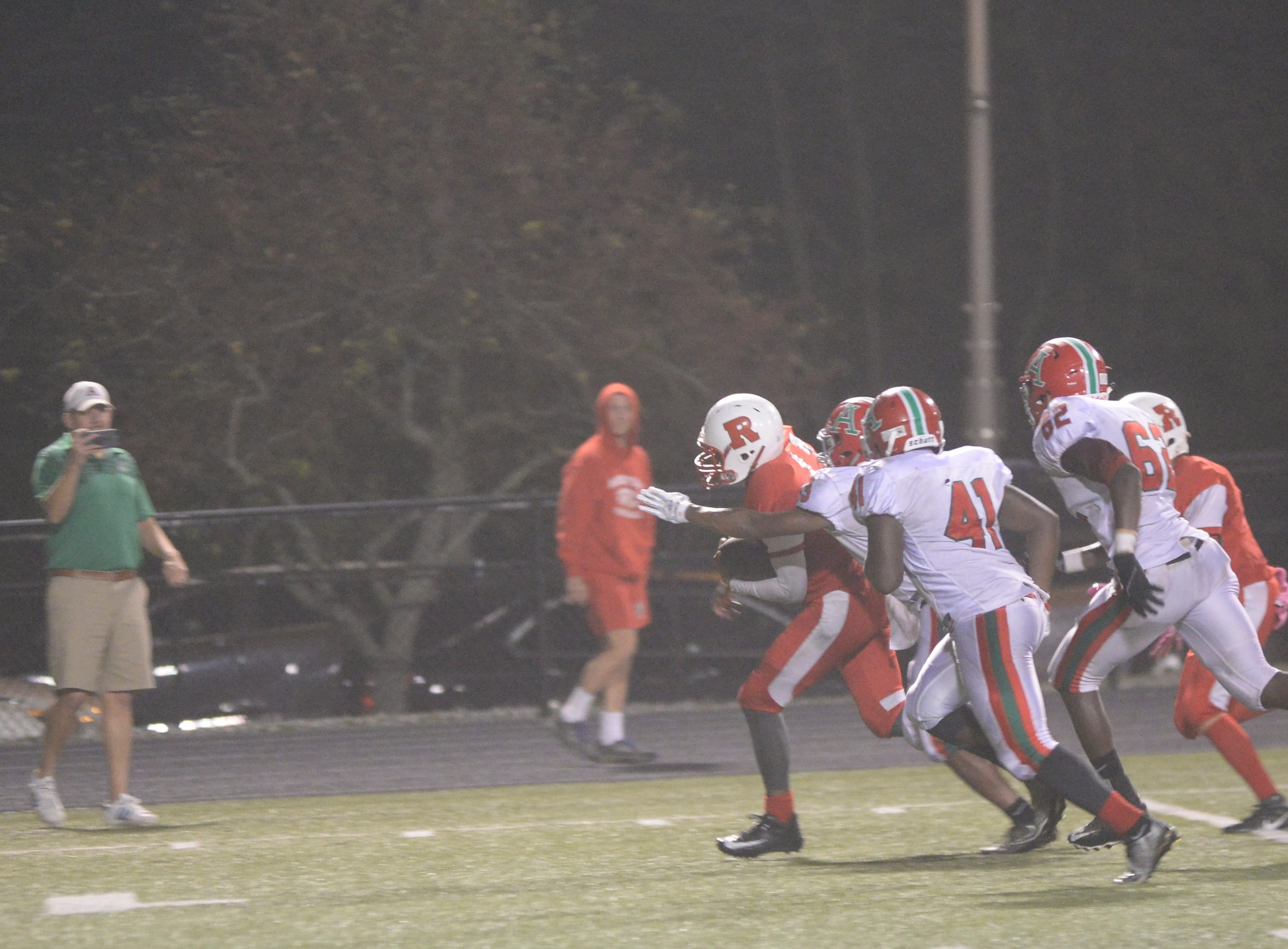 The Richmond High School football team fell  27-26 to Anderson Friday, Oct. 5, 2018 at Lyboult Field.