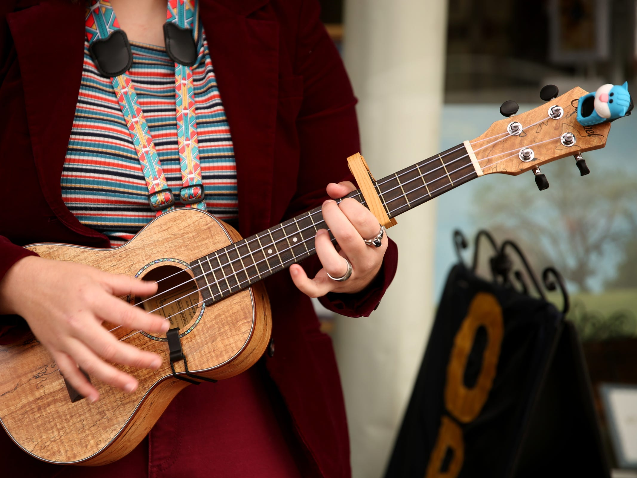 Camryn Davis performs during the Silverton Sidewalk Shindig, a culture of music festival, in downtown Silverton on Saturday, Oct. 6, 2018.