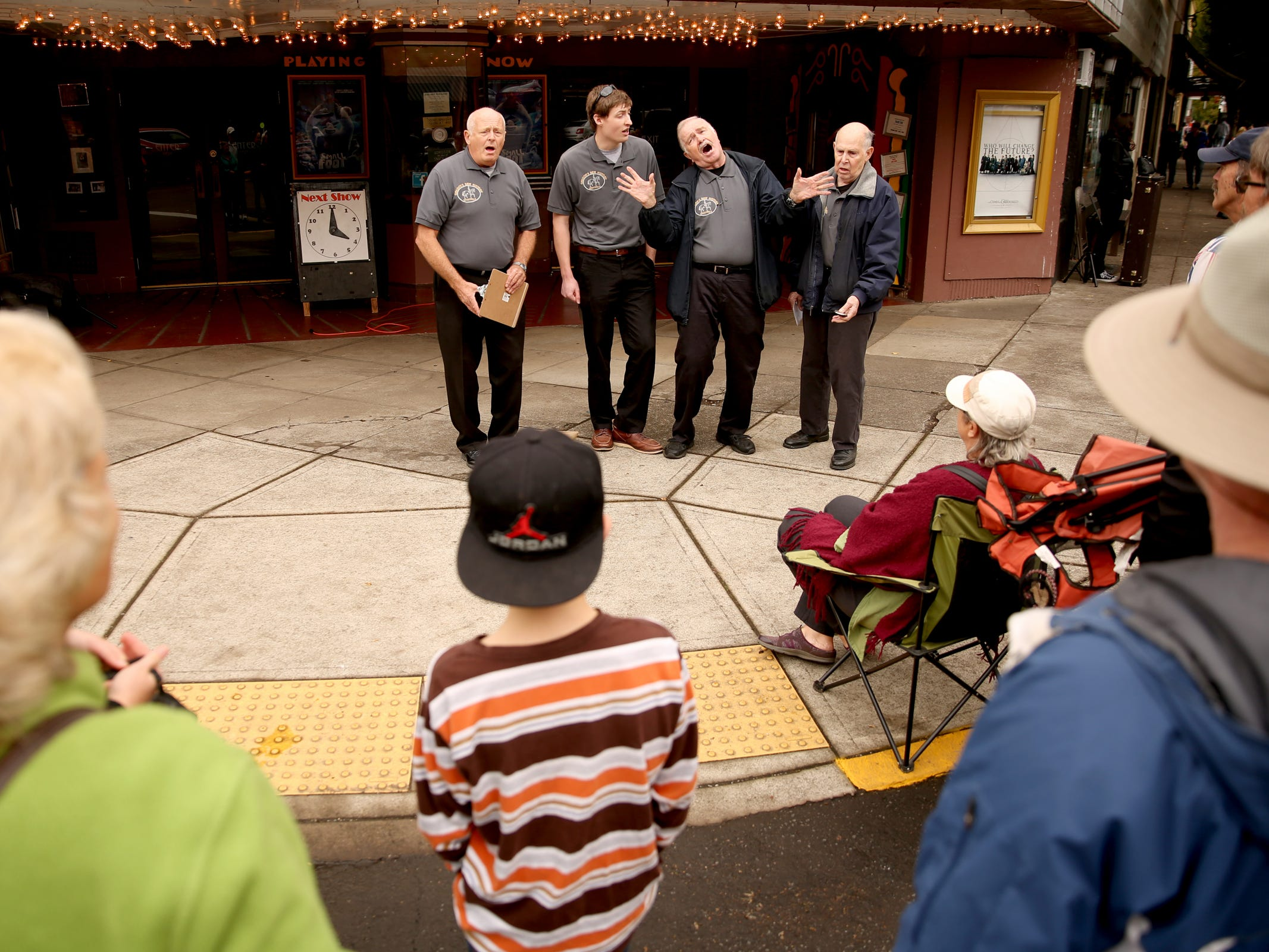 Oregon's New History Minstrels performs during the Silverton Sidewalk Shindig, a culture of music festival, in downtown Silverton on Saturday, Oct. 6, 2018.