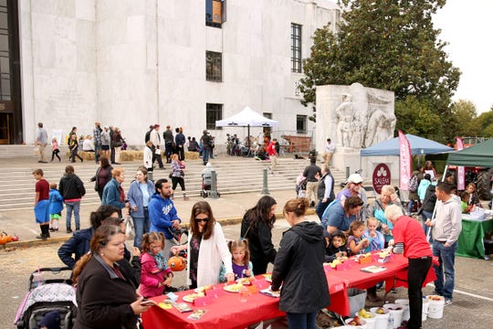 Oregon's Bounty, a harvest celebration, at the Oregon State Capitol in Salem on Oct. 5.