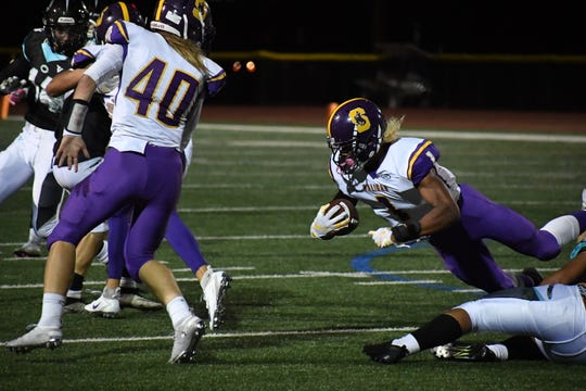 Salinas running back/wide receiver Poe Gaskins Jr. (1) had over 100 yards and a touchdown last week against San Benito and could have another great game Friday versus Aptos.