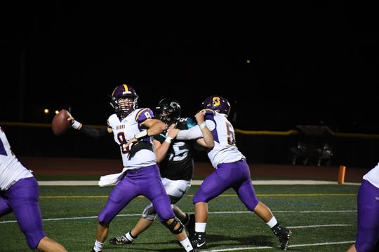 Salinas quarterback Carl RIchardson (8) is on a tear and the Cowboys could roll another opponent Friday night against winless Seaside.
