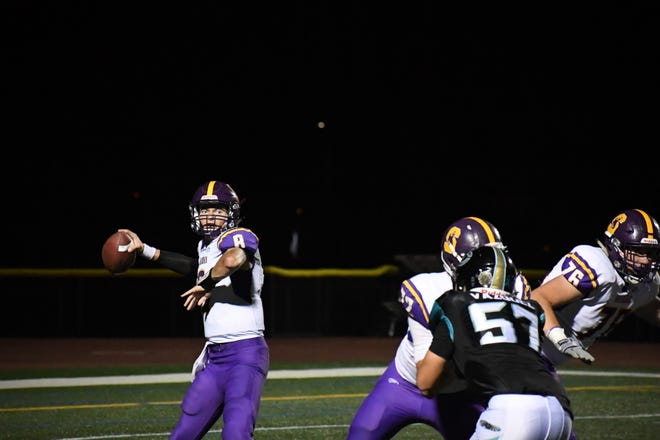 Salinas quarterback Carl Richardson (8) was on point again Friday and totaled three touchdowns in the win.