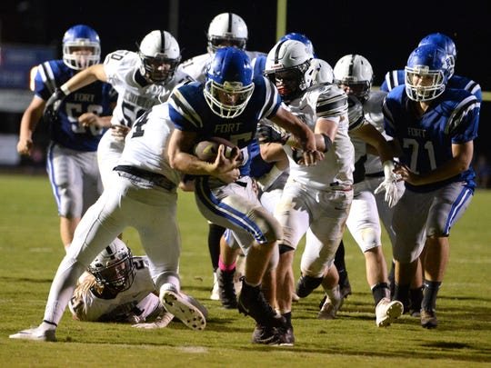 Fort Defiance's Trevor Bartley scored two touchdowns in Friday night's win over Turner Ashby. Bartley finished with 168 yards rushing.