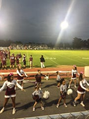 The Stuarts Draft cheerleaders had plenty to be happy about Friday night in Draft's win over Buffalo Gap.