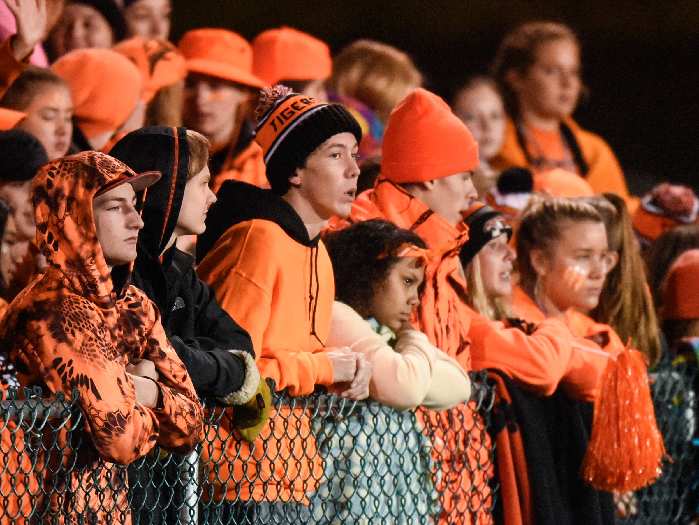 Tech fans watch the game against Sauk Rapids during the first half Friday, Oct. 5, in Sauk Rapids.