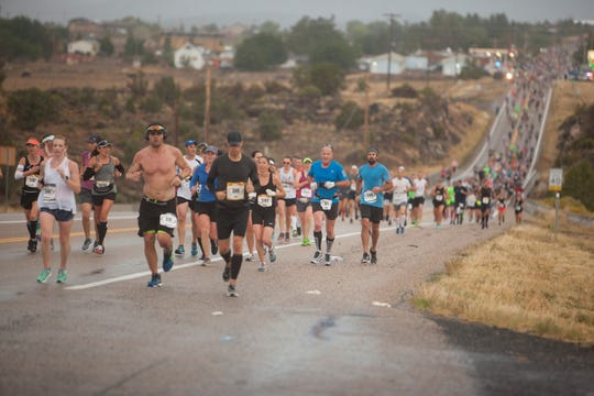 Runners from around the world compete in the 2018 St. George Marathon Saturday, Oct. 6, 2018.