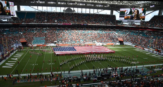 Hard Rock Stadium, home to the Miami Hurricanes and site of the 2020 Super Bowl, is among the facilities receiving tourism tax dollars for renovations and upkeep.