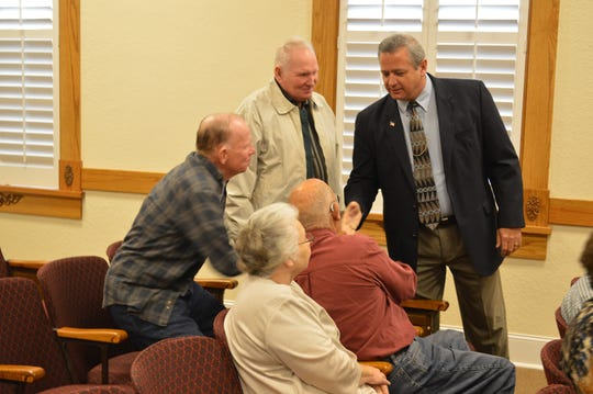 Liberty County Sheriff Nick Finch greets people in a courtroom in this 2013 photo.