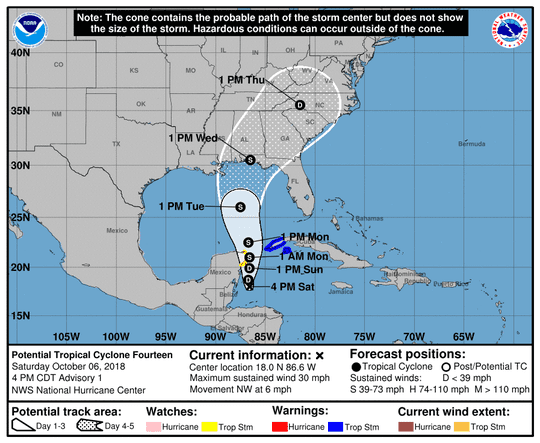 The tracking map for what will become Michael.