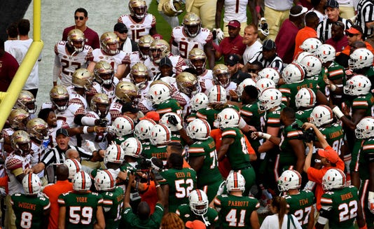 Ncaa Football Florida State At Miami