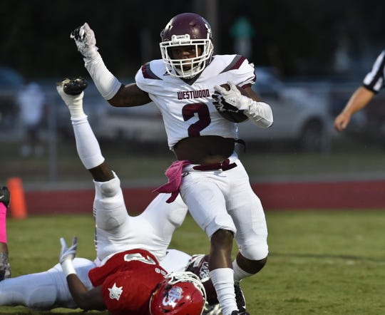 Vero Beach High School hosted Fort Pierce Westwood at Billy Livings Field in the Citrus Bowl for their homecoming game on Friday, Oct. 5, 2018, in Vero Beach. Vero Beach won 49-16.