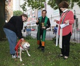 The Rev. Judith Lee, interim pastor with Grace Episcopal Church in White Plains talks about blessing the animals during the Feast of St. Francis of Assisi