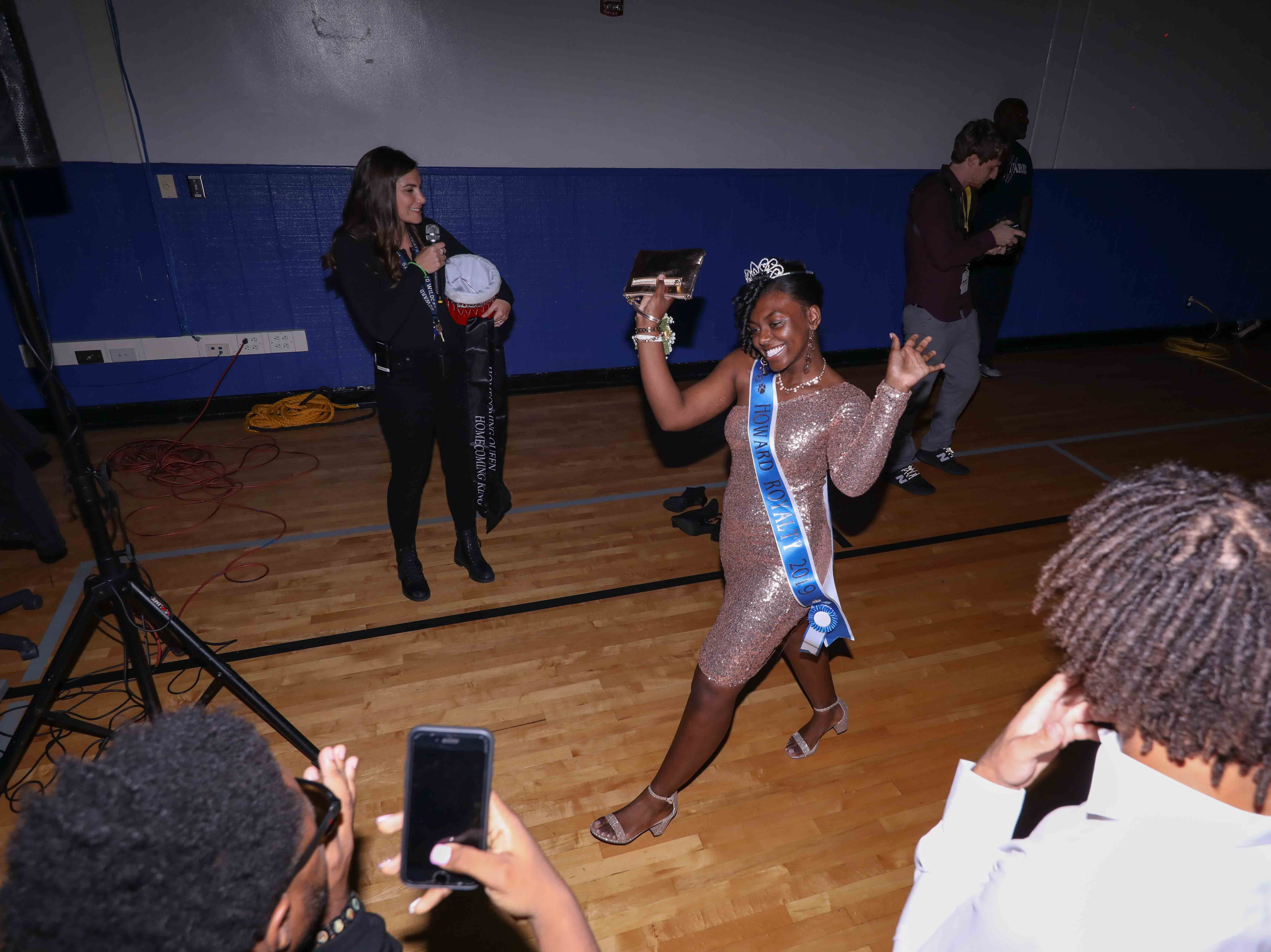 Students and their guest attend Howard High School of Technology homecoming dance Friday, Oct 05, 2018, at Howard High School of Technology in Wilmington.