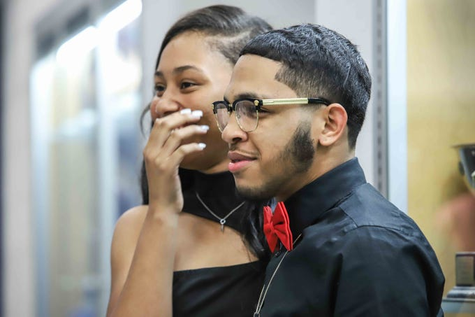 Students and their guest attend Howard High School of Technology homecoming dance Friday, Oct 05, 2018, at Howard High School of Technology in Wilmington, DE.