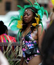 Students get ready to take part in the Caribfest parade Saturday, Oct. 6, 2018, hosted by the Caribbean Student Organization at Midwestern State University.