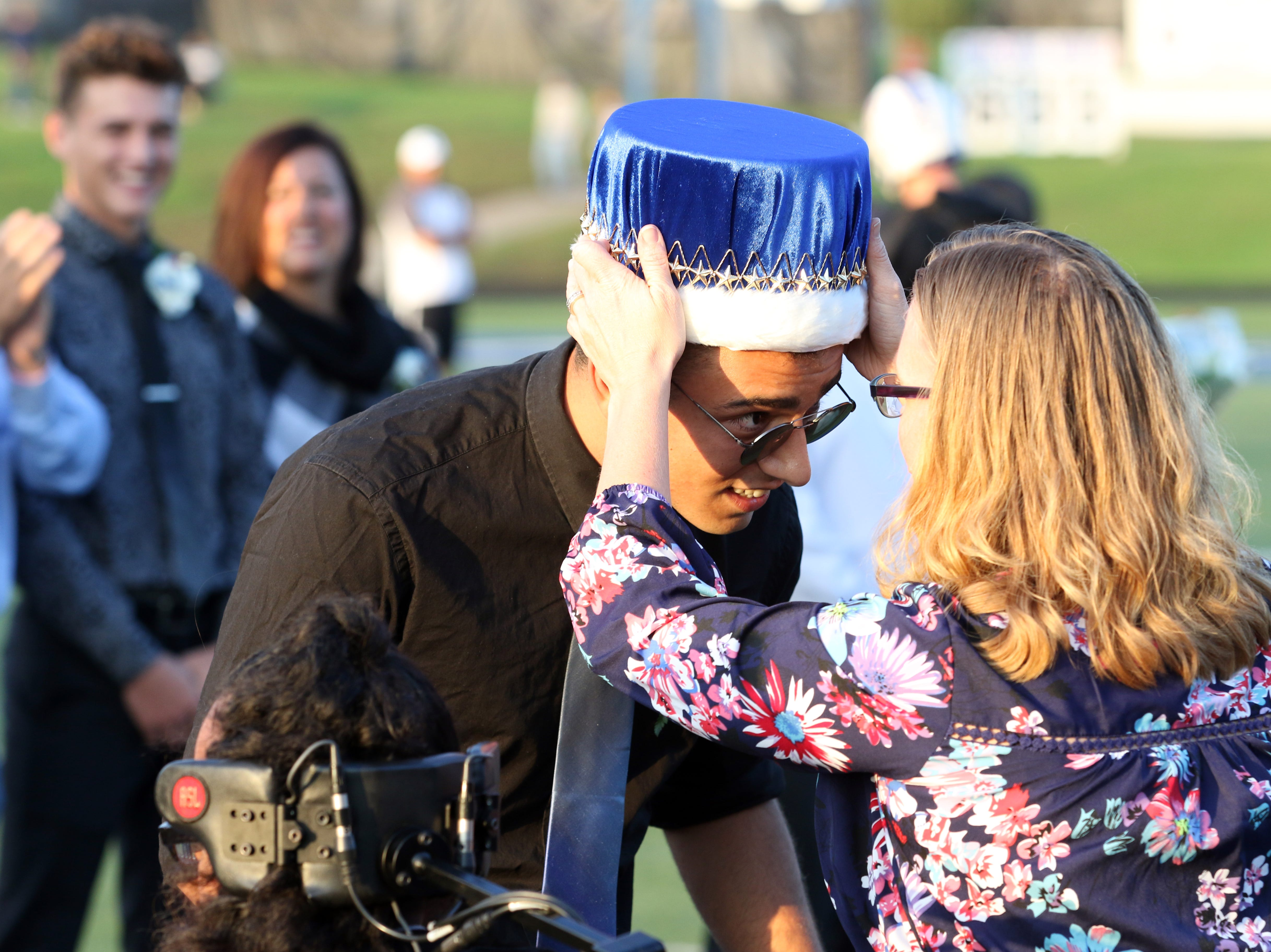 Berke Kizilcan is crowned Zanesville High School homecoming king.