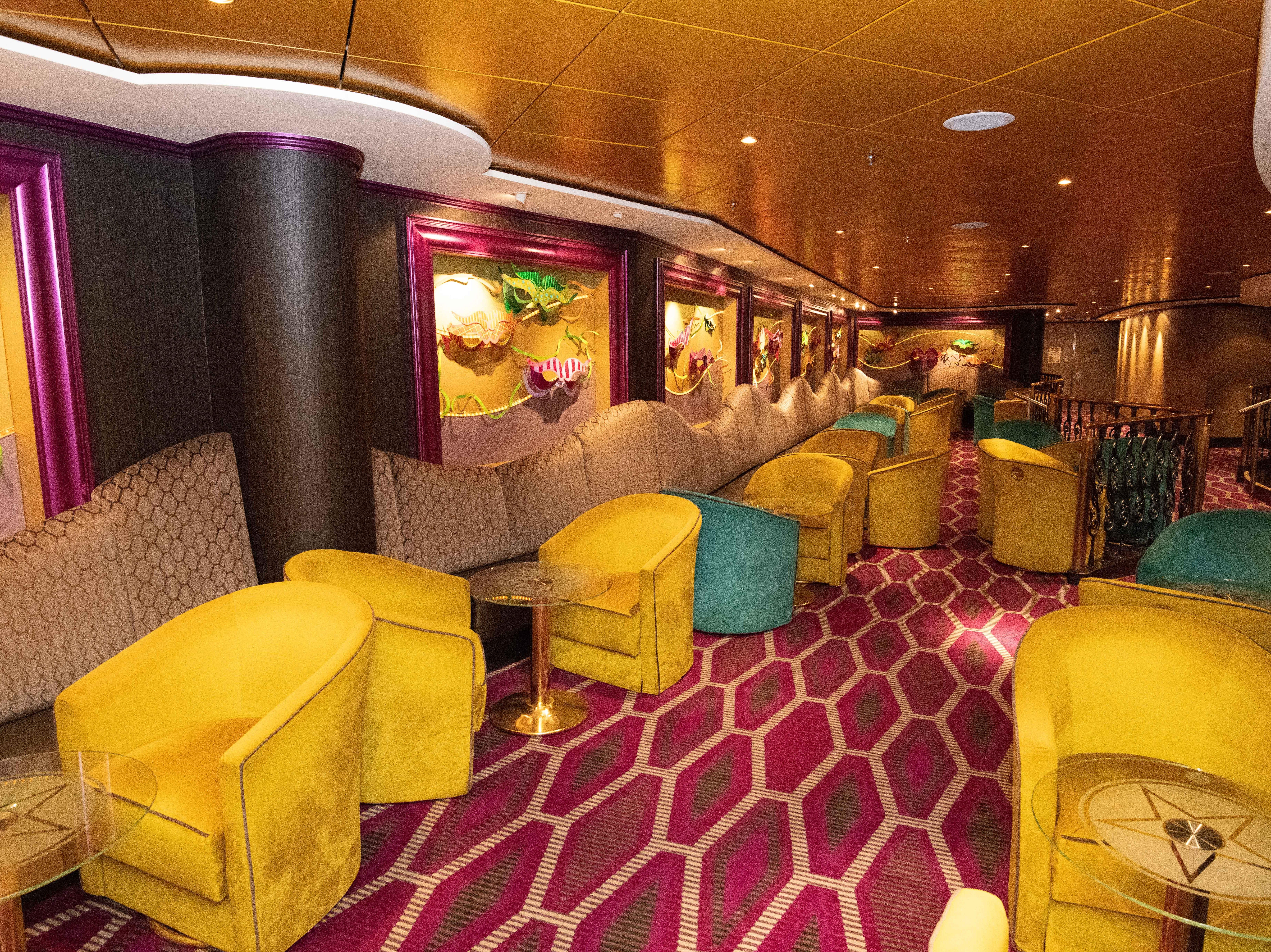 A seating area at the Mardi Gras Cabaret Lounge & Nightclub.