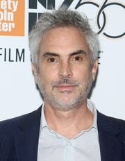 "Writer/director Alfonso Cuaron at the New York Film Festival premiere of ""Roma."""