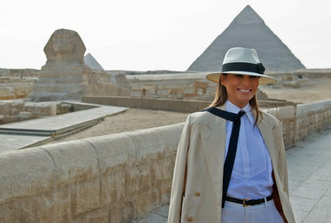 d1f8dad2 Melania Trump's Egypt look compared to Michael Jackson, more on Twitter