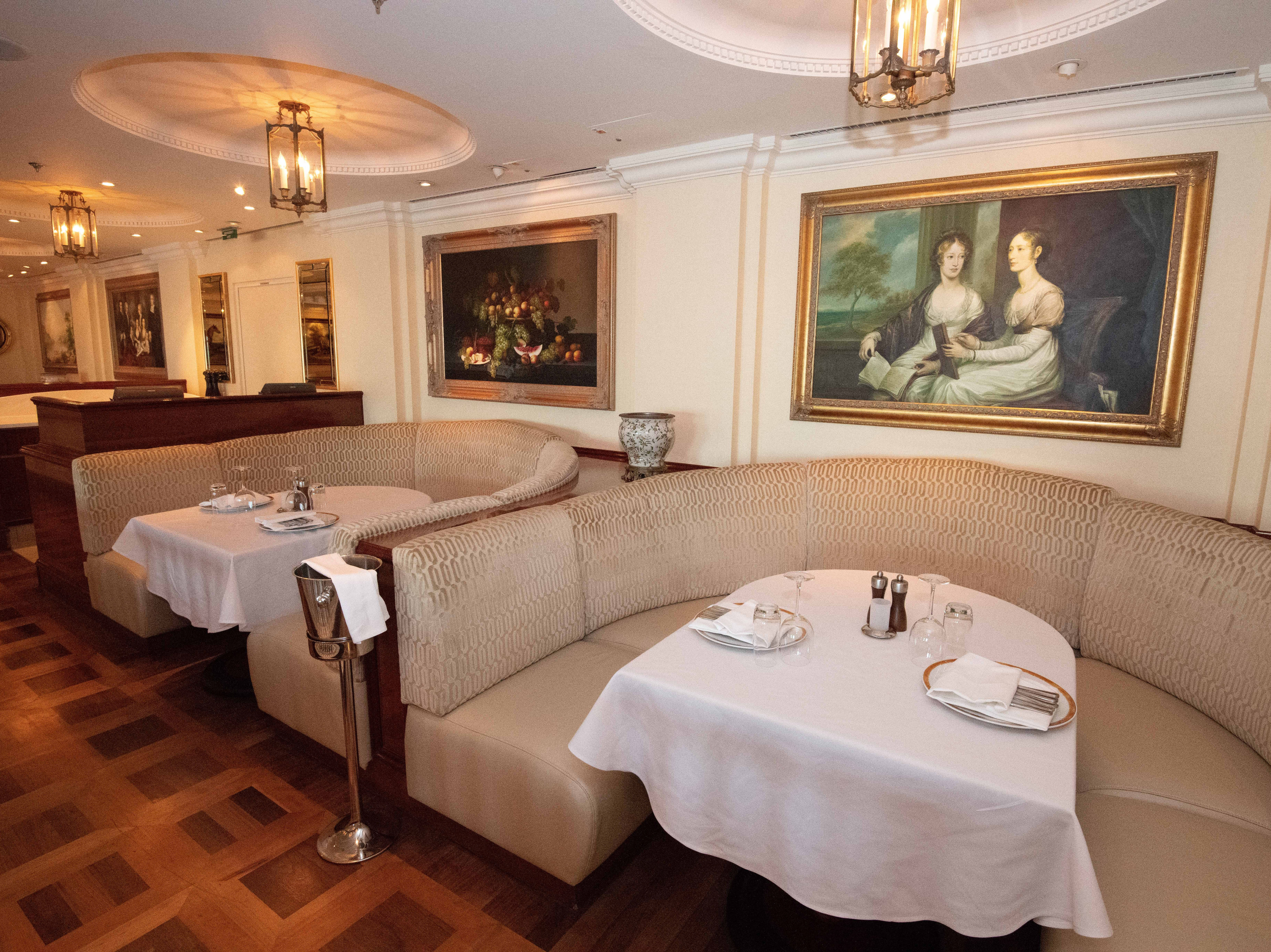 Several large tables with banquette seating are available for larger parties at Jefferson's Bistro.