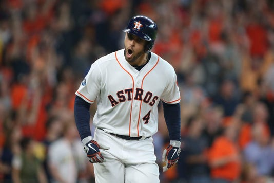 Usp Mlb Alds Cleveland Indians At Houston Astros S Bba Hou Cle Usa Tx