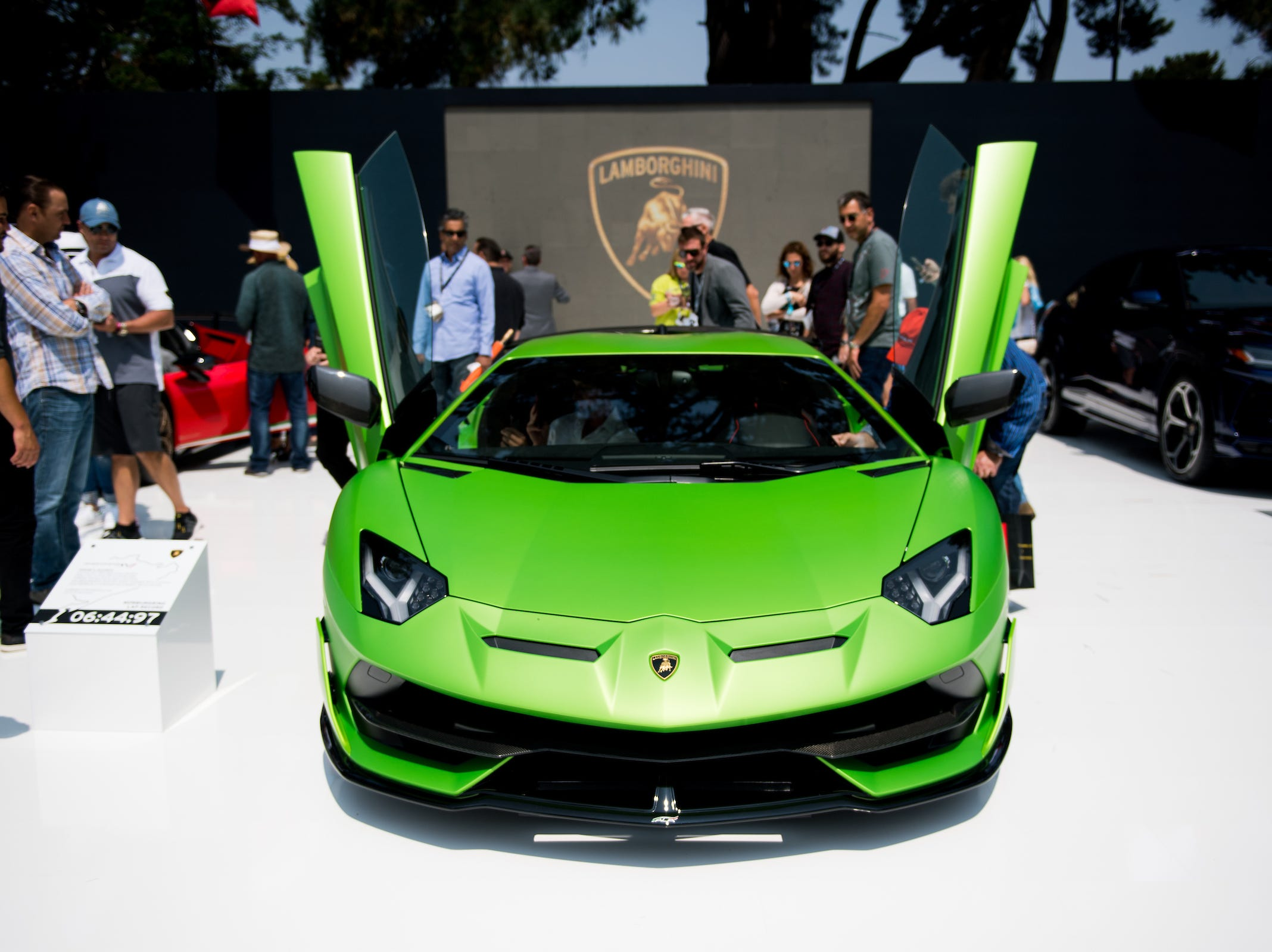 Presentation of Aventador SVJ at The Quail