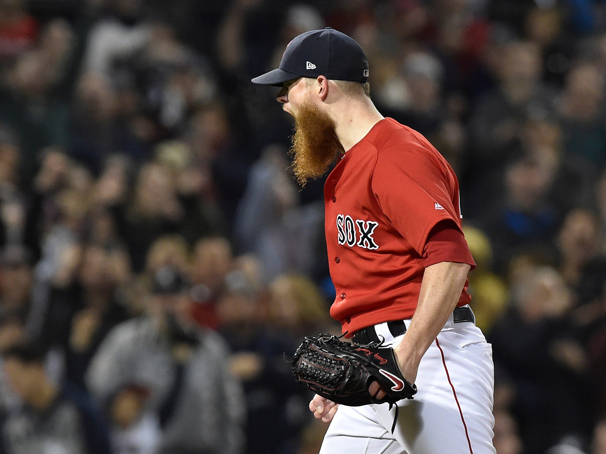 ALDS Game 1: Red Sox closer Craig Kimbrel earns a four-out save against the Yankees.