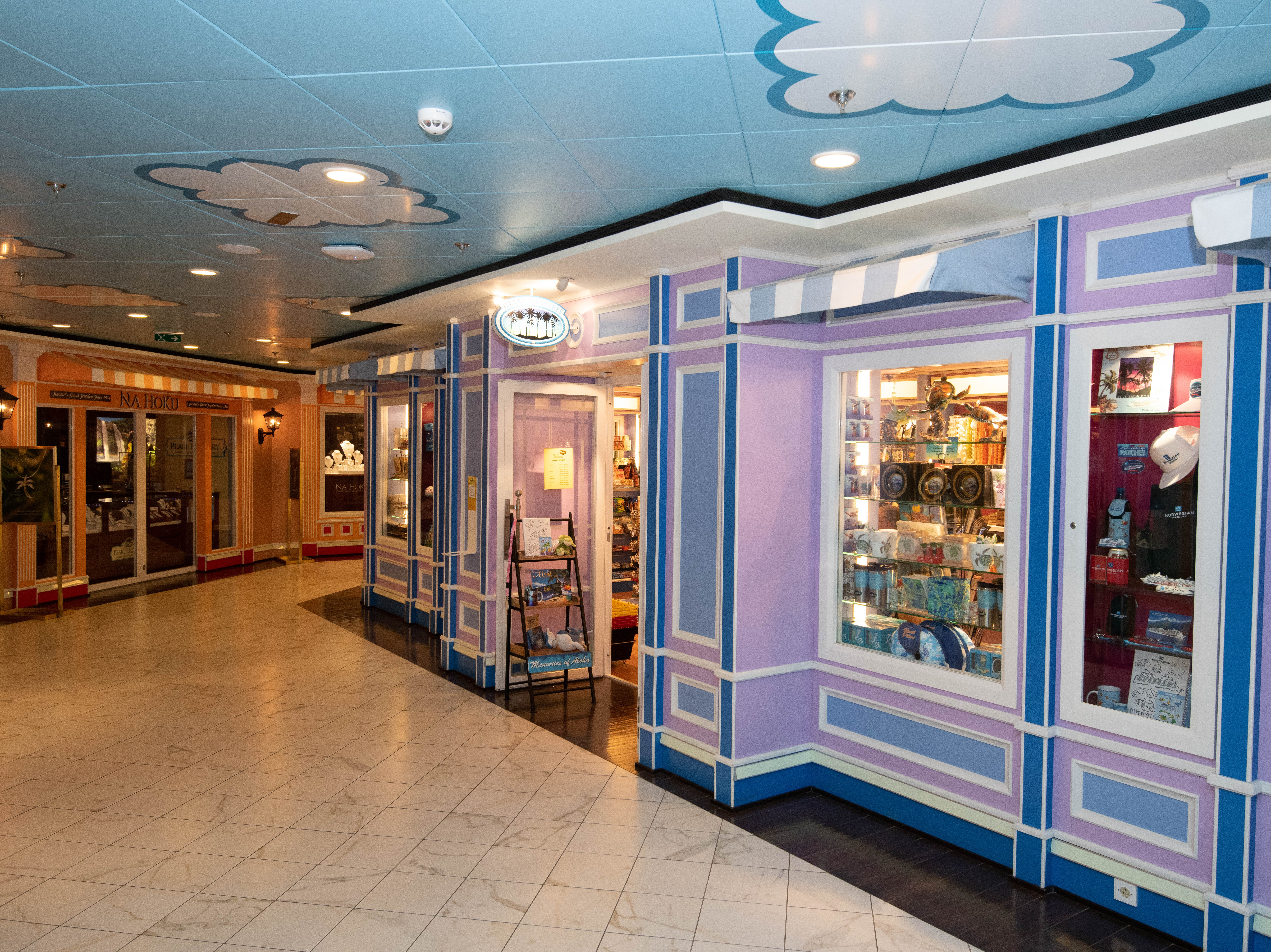 Also located on Deck 5 is a small shopping area.