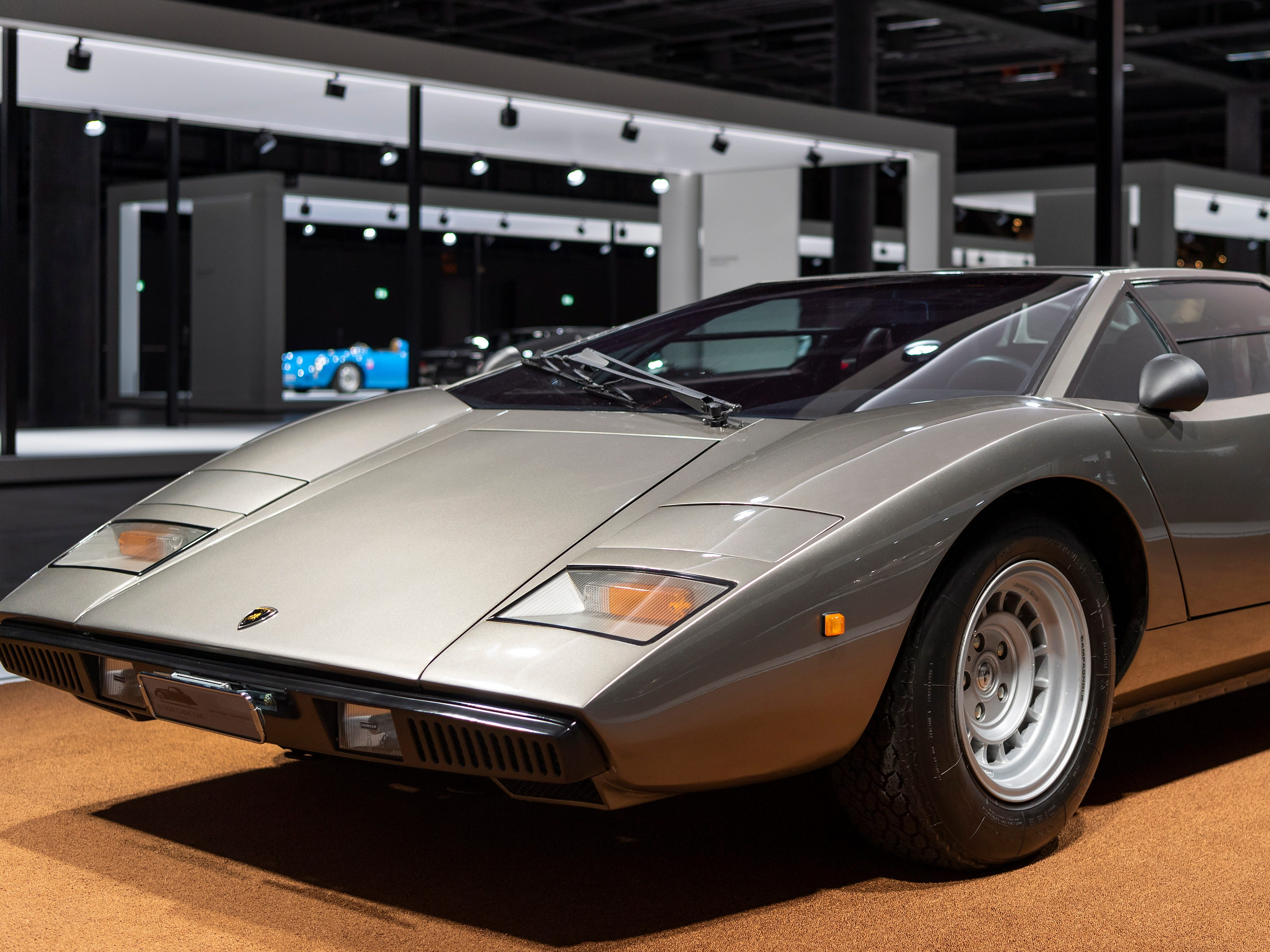 A Lamborghini Countach LP 400 (1974) on display at the Grand Basel car show in Basel, Switzerland, Sept. 5, 2018.