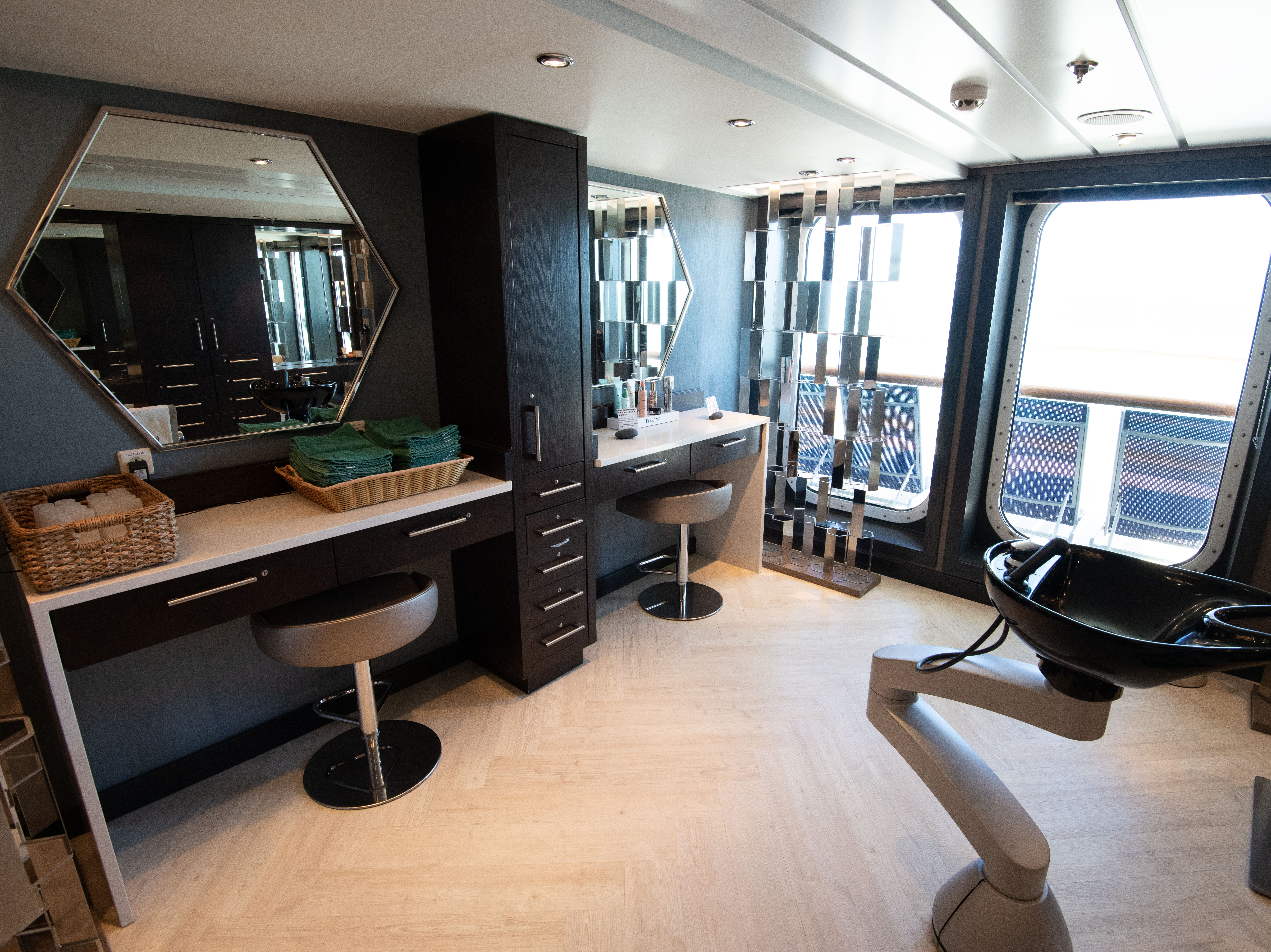 The Mandara Spa on Pride of America has a full-service salon offering a wide range of hair and nail treatments. Prices start at $35 for a shampoo and blow dry.