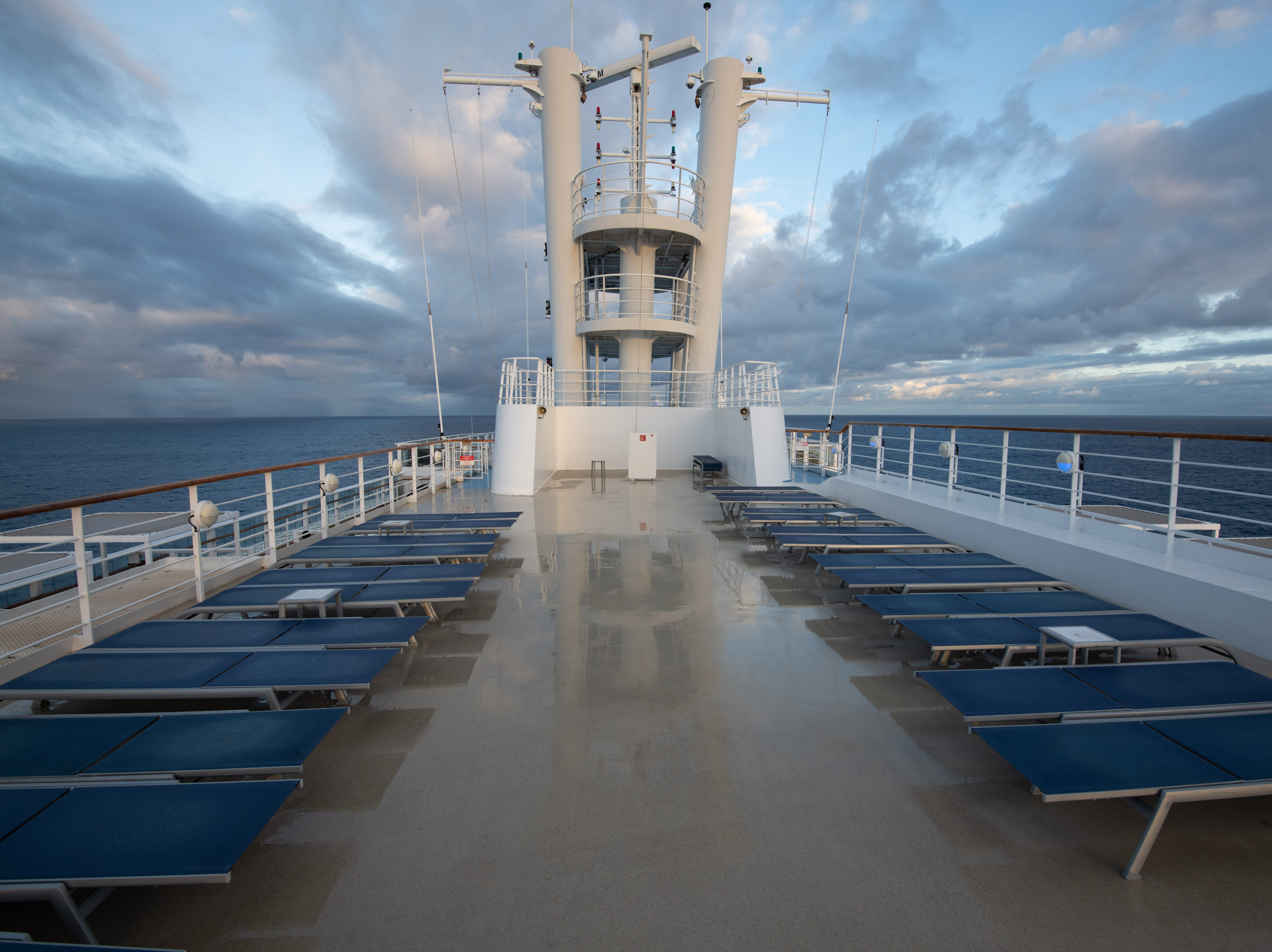 More lounge seating can be found at the very top of the ship on Deck 15.