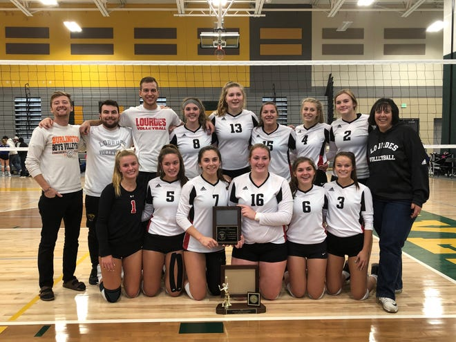 The Lourdes Academy girls volleyball team won the Trailways Conference volleyball tournament Saturday for its sixth consecutive conference title.