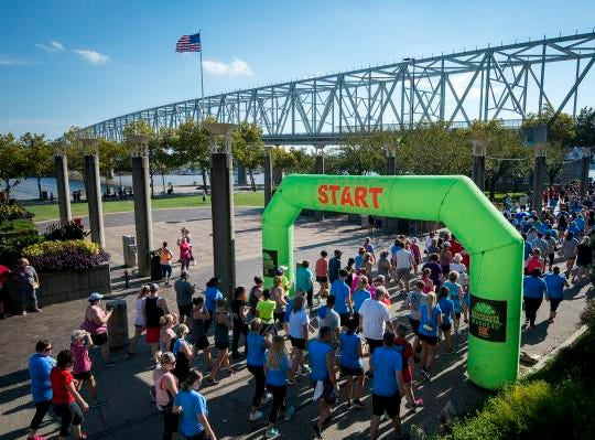 Over a thousand people attend the Margarita Madness 5K race through Sawyer Point Saturday in Cincinnati.