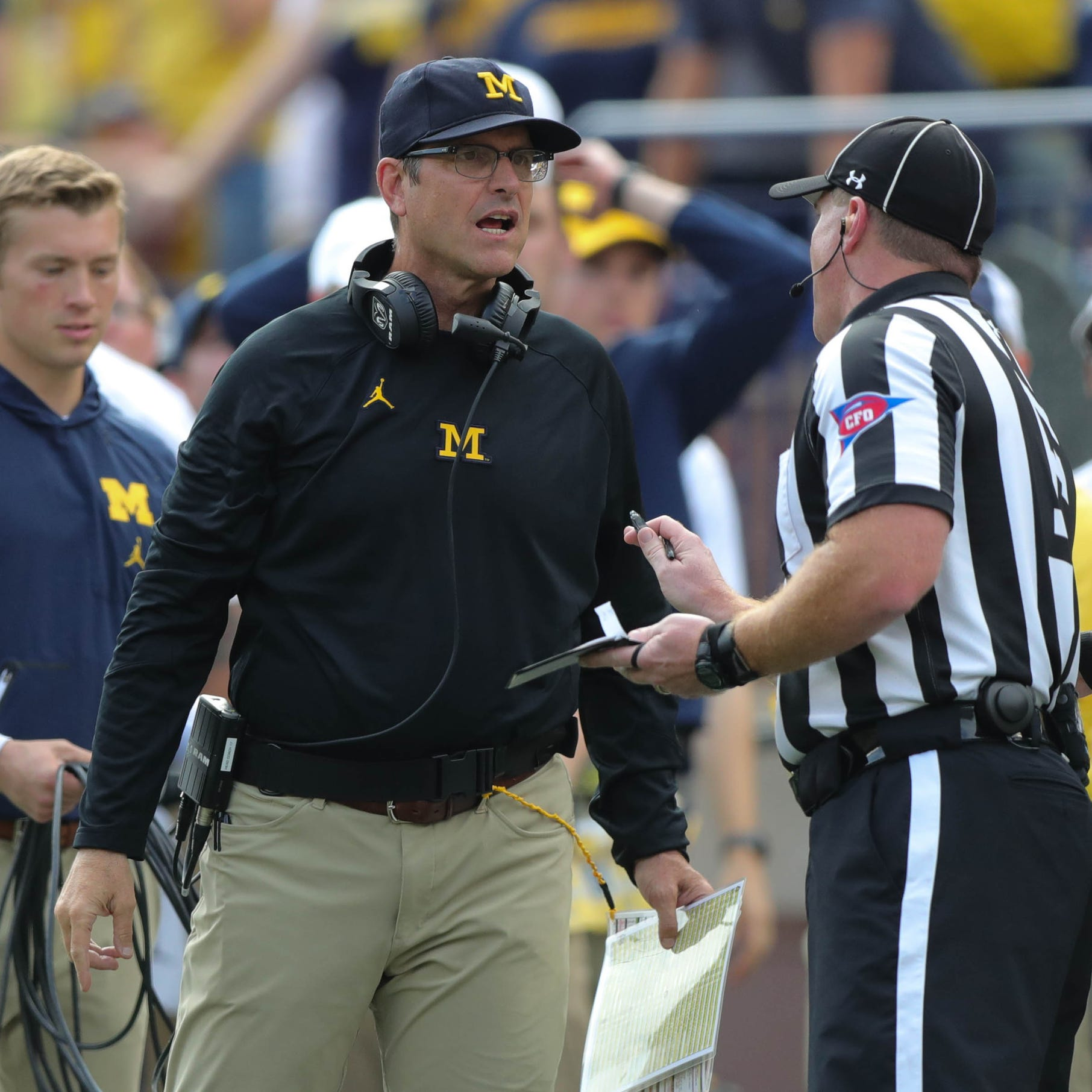 What Michigan's Jim Harbaugh said about Michigan State on Monday