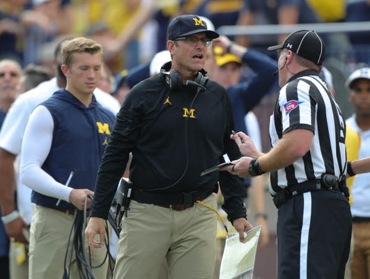 Jim Harbaugh mad