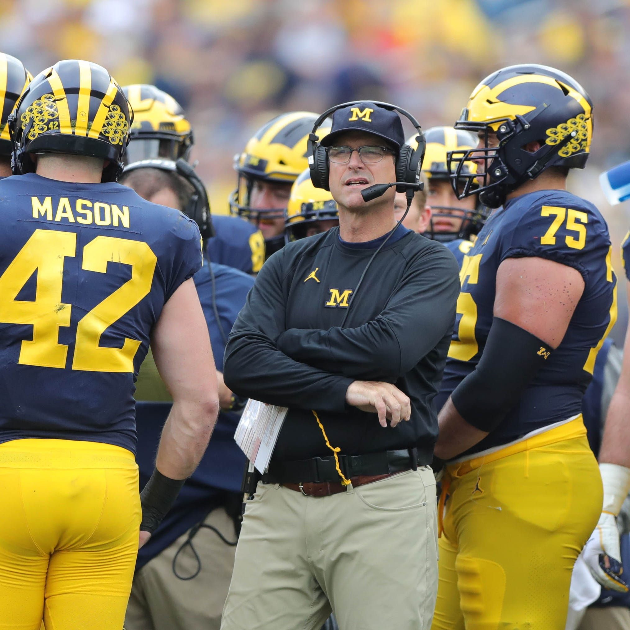 Michigan's Jim Harbaugh on rivalry trash talk: 'We could all use a break'