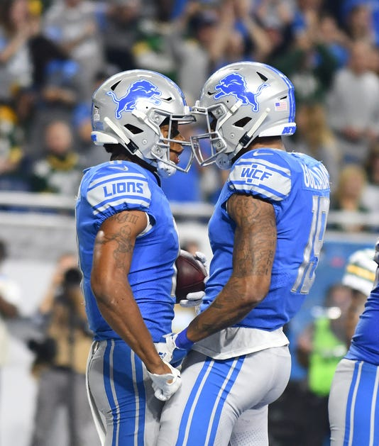 ee16b876b Lions  Marvin Jones Jr. and Kenny Golladay celebrate Jones  touchdown in  the second quarter. (Photo  Daniel Mears