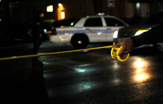 Crime Tape Night Detroit Police 2