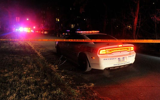 Crime Tape Night Detroit Police