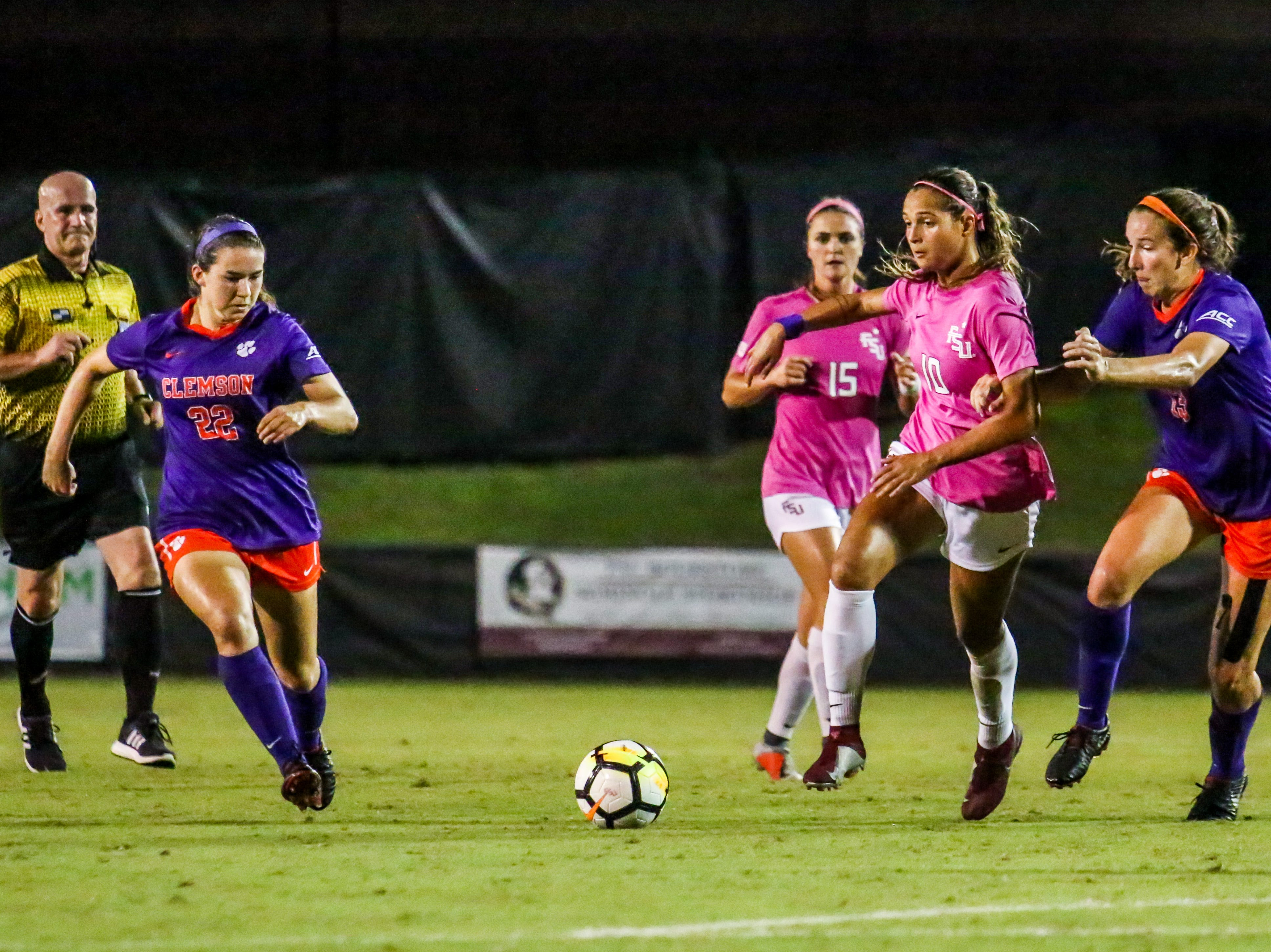 Star-midfielder, Deyna Castellanos (10), was also shutdown throughout most of the game against Clemson on Thursday, October 4th at the Seminole Soccer Complex.