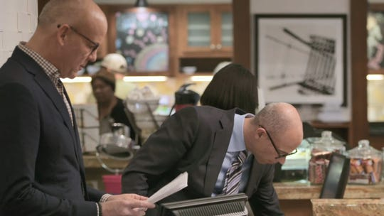 """Circus"" host John Heilemann (left) joins attorney Michael Avenatti (right) for an early look at Julie Swetnick's statement as she signs the document, officially claiming that Kavanaugh and others assaulted and drugged women in high school."