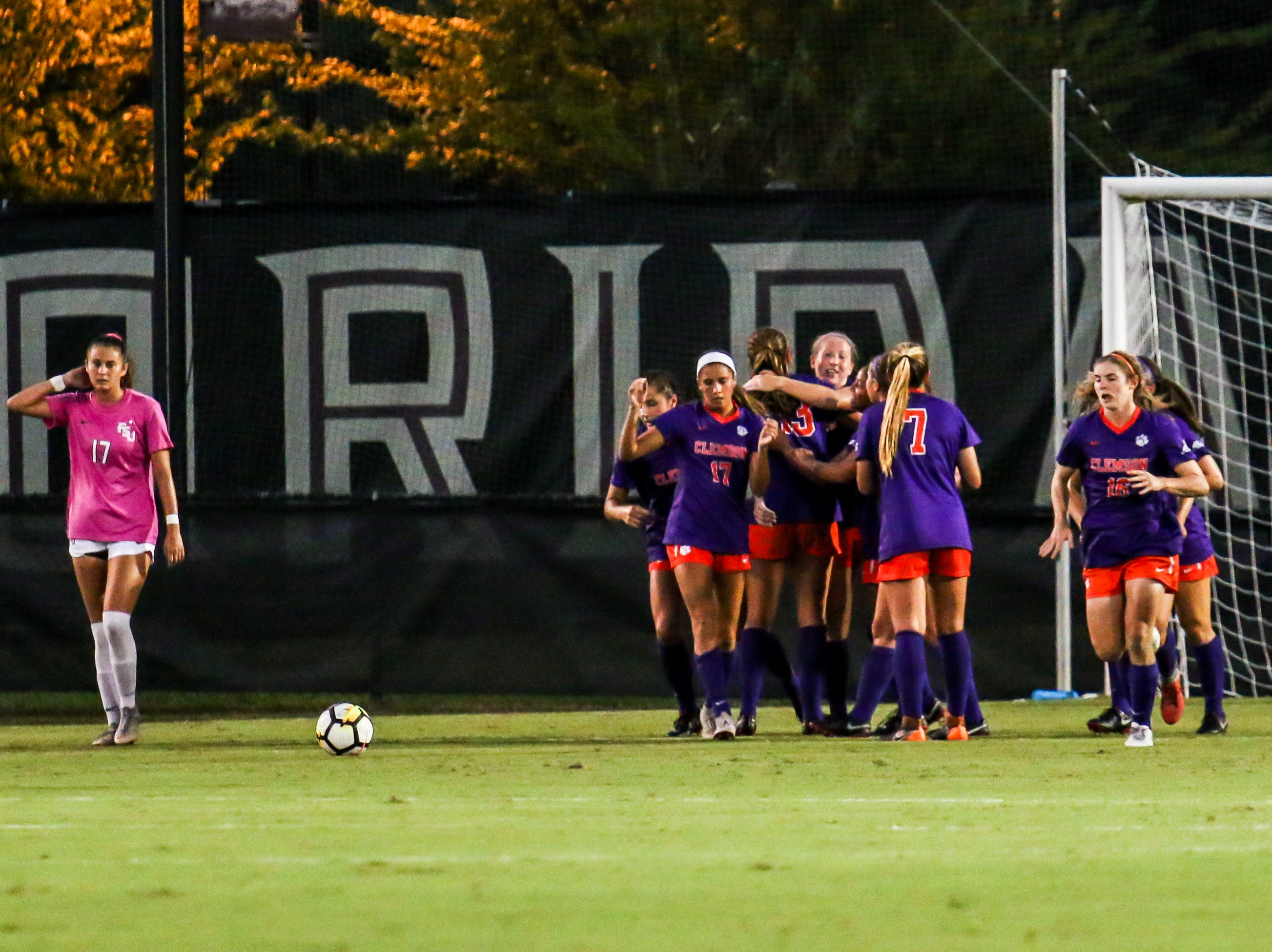 Clemson got an early goal in the first half and would eventually hold on to win 1-0 against the Noles on Thursday, October 4th at the Seminole Soccer Complex.