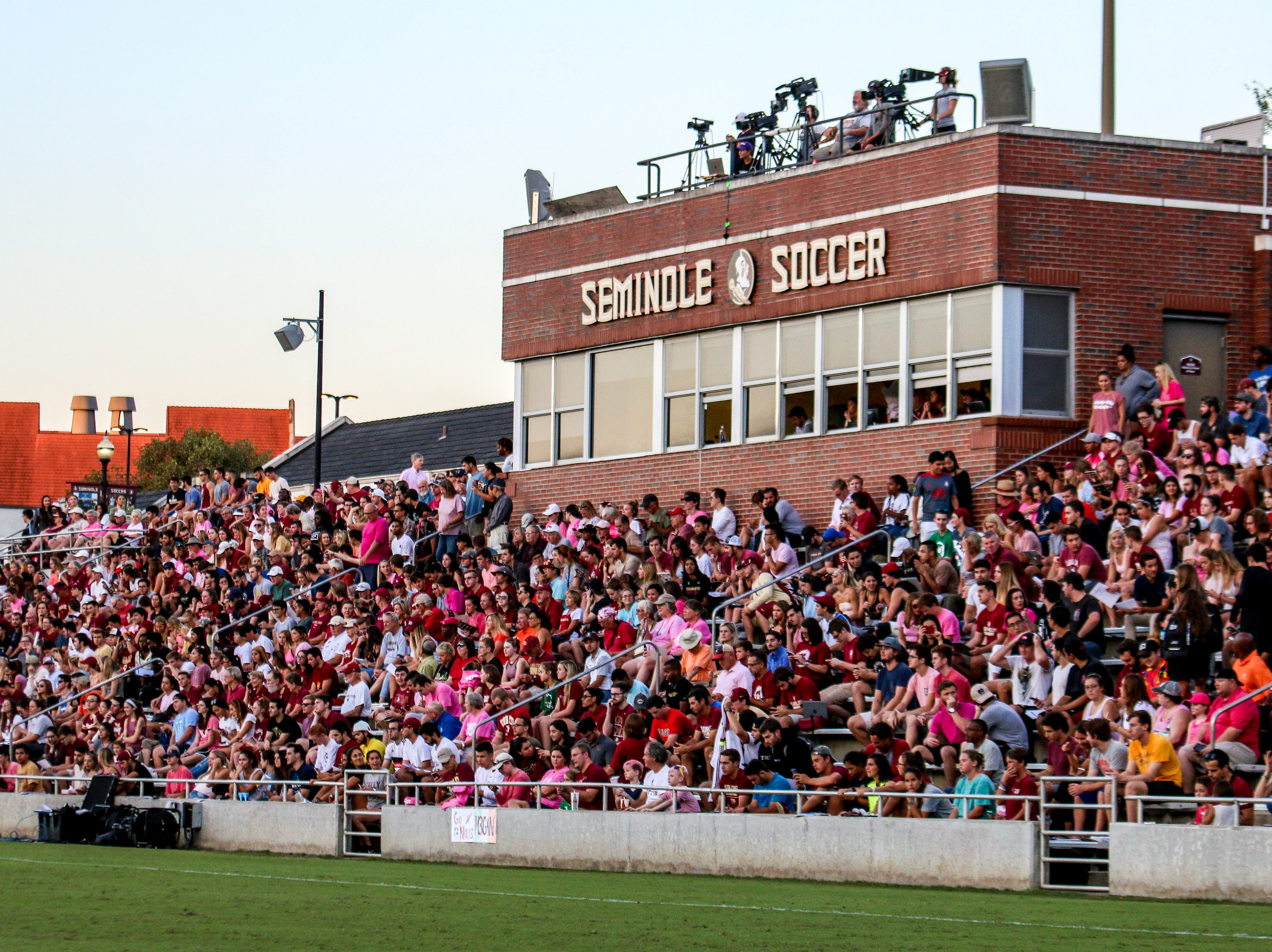 The Seminole Soccer Complex was packed as the FSU Women's Soccer team took on Clemson on Thursday, October 4th.
