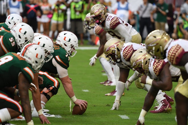 The FSU vs Miami rivalry game took place at the Hard Rock Stadium on October 6th 2018.